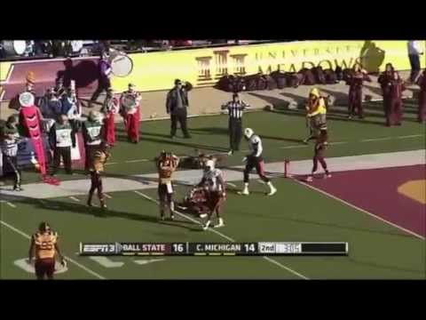 Jordan Williams - Ball State Football - WR - 2014 Central Michigan Game