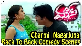 Nagarjuna & Charmi Back To Back Comedy || Mass Movie || Jyothika