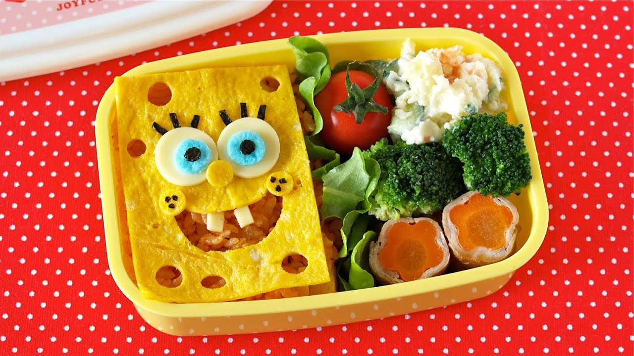 spongebob squarepants bento lunch box ochikeron create eat happy youtube. Black Bedroom Furniture Sets. Home Design Ideas