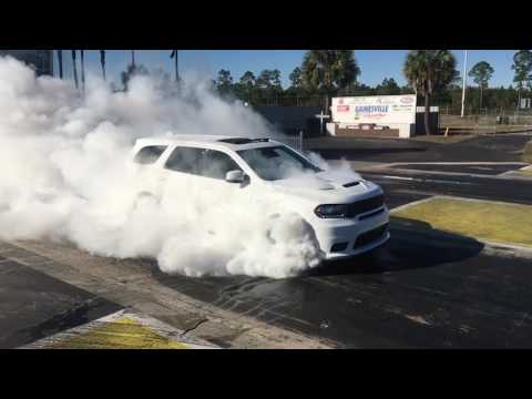 2018 Dodge Durango SRT Burnout video