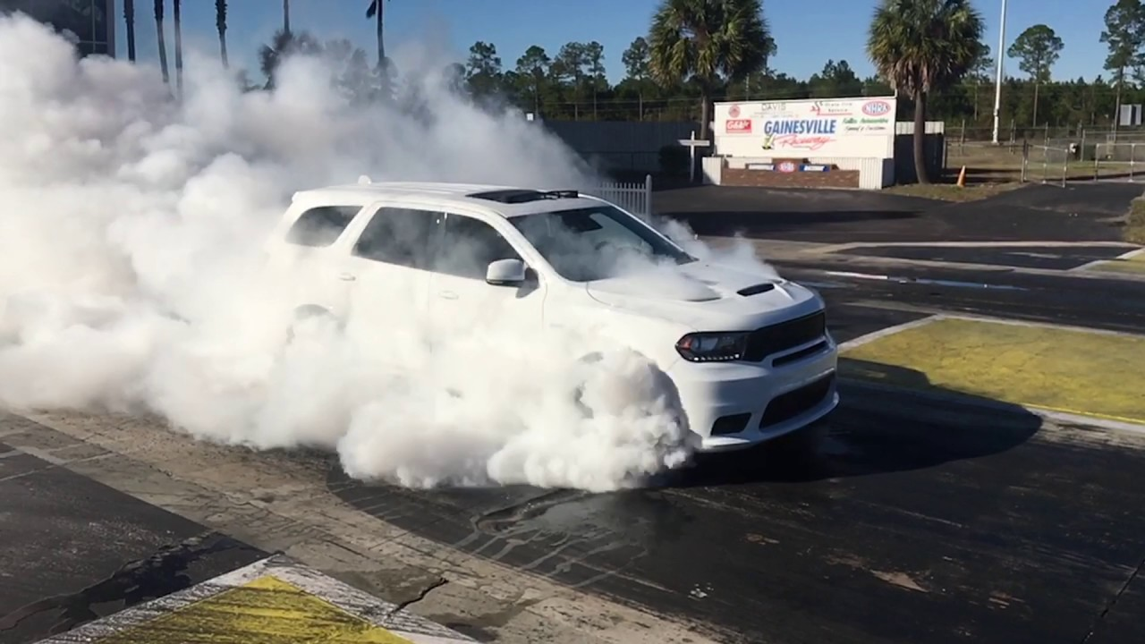 2018 Dodge Durango Srt Burnout Youtube