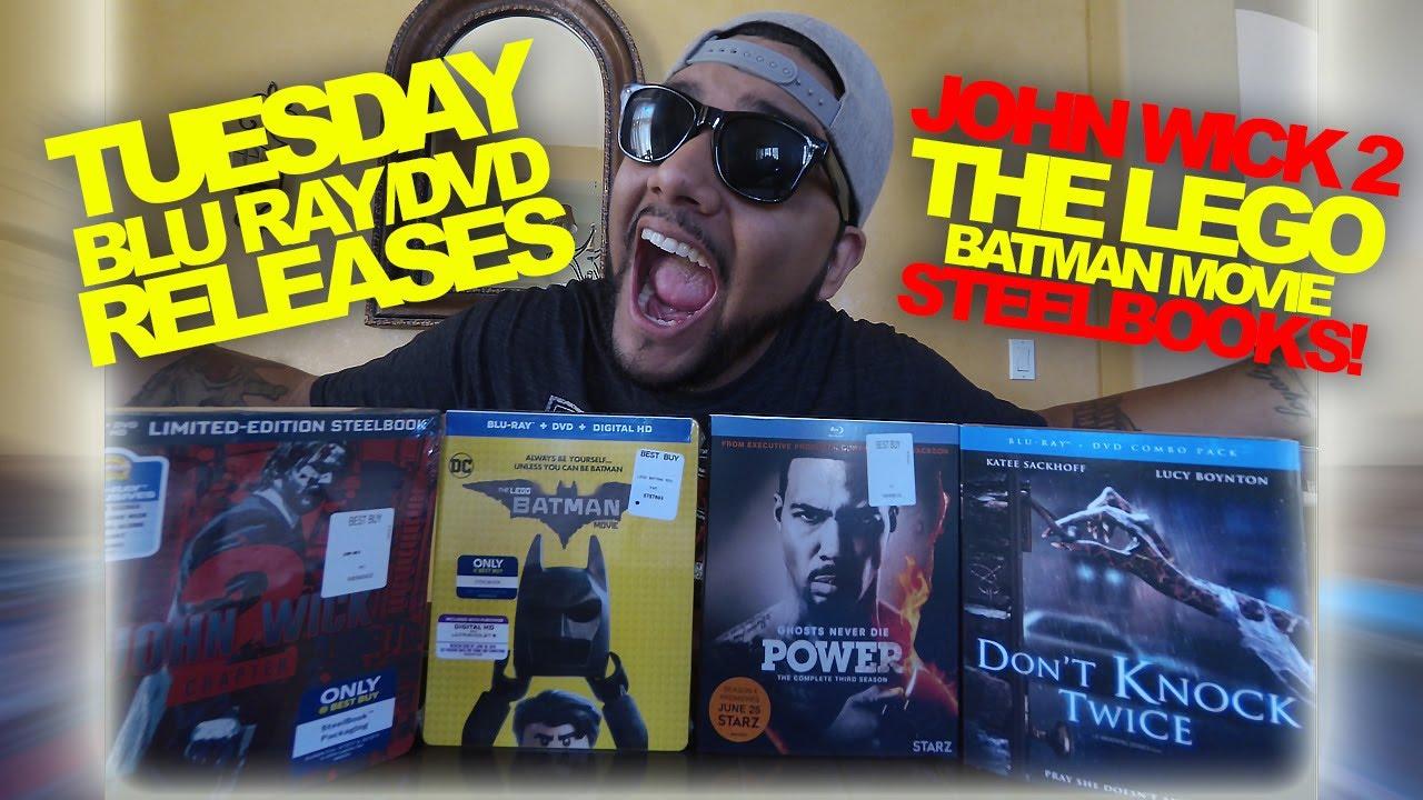 john wick  lego batman steelbooks  blu ray dvd releases youtube