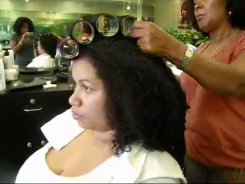 Dominican Blowout On Natural Hair
