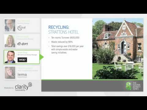 Driving Sustainability - waste water and energy reduction (Webinar 1)
