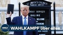 """""""ER KAM NICHT, UM ZU BETEN"""":Trumps Bibel-Fototermin macht Kleriker fassungslos"""