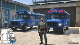 LSPDFR #446 - PRISONER TRANSPORT| TRANSFER!! (GTA 5 REAL LIFE POLICE MOD)