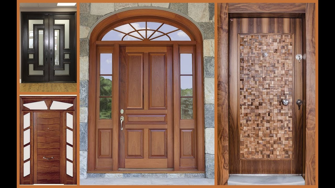 Top 50 modern wooden main door designs for home 2018 plan for Big main door designs