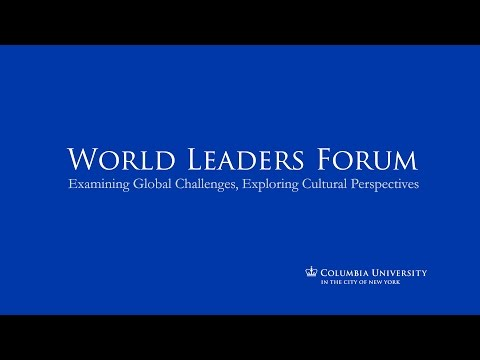 World Leaders Forum: His Excellency Sergio Mattarella, President of the Italian Republic