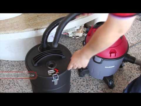 Raider Power Tools - Метален контейнер с HEPA филтър за прахосмукачка