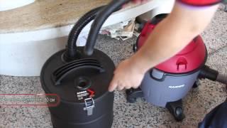 Raider Power Tools Метален контейнер с HEPA филтър за прахосмукачка