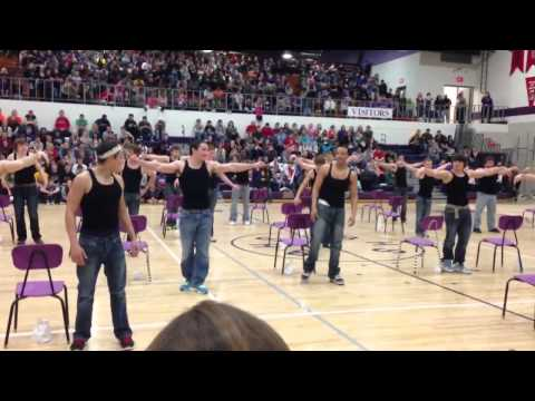 Bhs senior boys dance team. Burlington iowa.