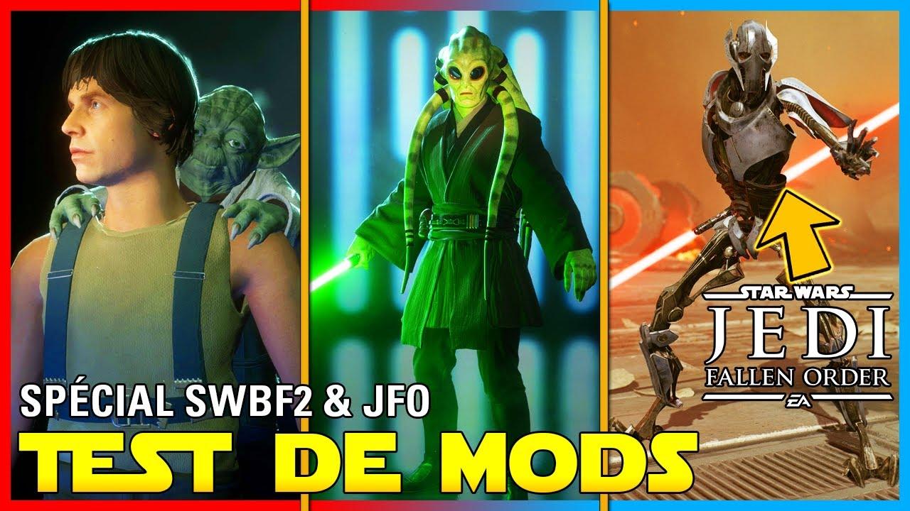 Kit Fisto, R2D2 & Grievous dans JFO!? (Spécial Test de Mods #25) | Battlefront 2 & Jedi Fallen Order
