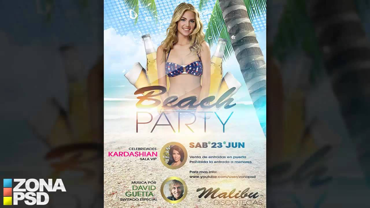 proyecto psd editable flyer fiesta de verano free psd template