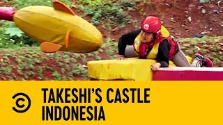 London Hughes Roots For Beach Bum Brenda | Takeshi's Castle Indonesia