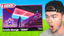 REACTING to FORTNITE MONTAGES with 0 VIEWS!