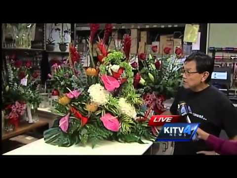Fujikami Florist ready for Valentine's Day