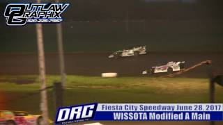 Fiesta City Speedway 6/28/17 WISSOTA Modified A Main Final 5 laps