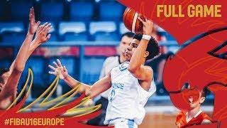 France v Croatia - Full Game - Semi-Final - FIBA U16 European Championship 2017