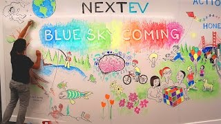 NextEV Whiteboard Mural Timelapse - Mark Wooding