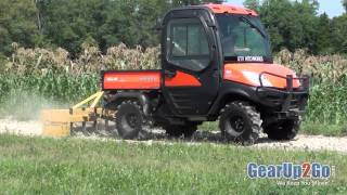 UTV Hitchworks - The Farmboy using a box blade on the Kubota RTV 1100 - From GearUp2Go.com(Shop UTV Hitchworks Products: http://www.gearup2go.com/utv/shop-by-brand/utv-hitchworks.html., 2012-01-02T10:20:10.000Z)