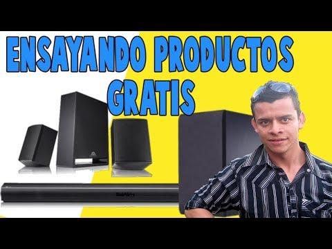 ENSAYANDO  PRODUCTOS GRATIS ENVIADO  A MI CASA POR YOUZZ
