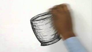 How to Draw a Coffee Mug and Beans