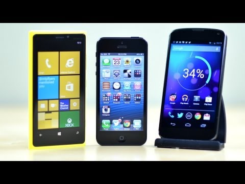 iPhone 5 vs Nexus 4 vs Lumia 920