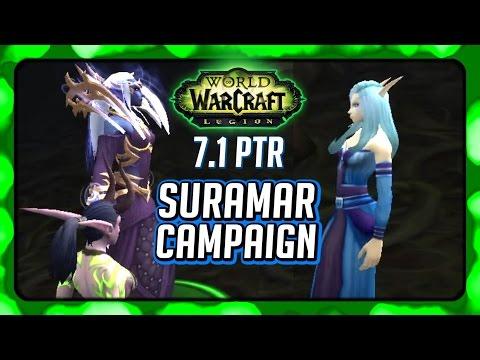 WOW Legion 🌟 Stellagosa is Leying Valtrois' Lines in 7.1 Suramar Campaign