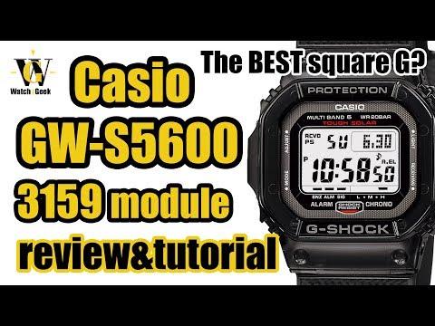 Casio G-Shock GW-S5600 review & 3159 module tutorial (also works for GW-M5610 & GW-5000)