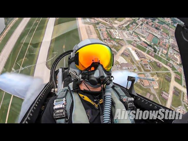 F-16 Cockpit Cam (with Flares!) - PACAF Demo Team