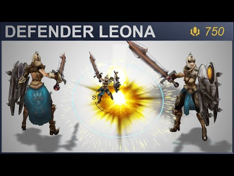 Defender Leona Skin Spotlight 2020 | SKingdom - League of Legends