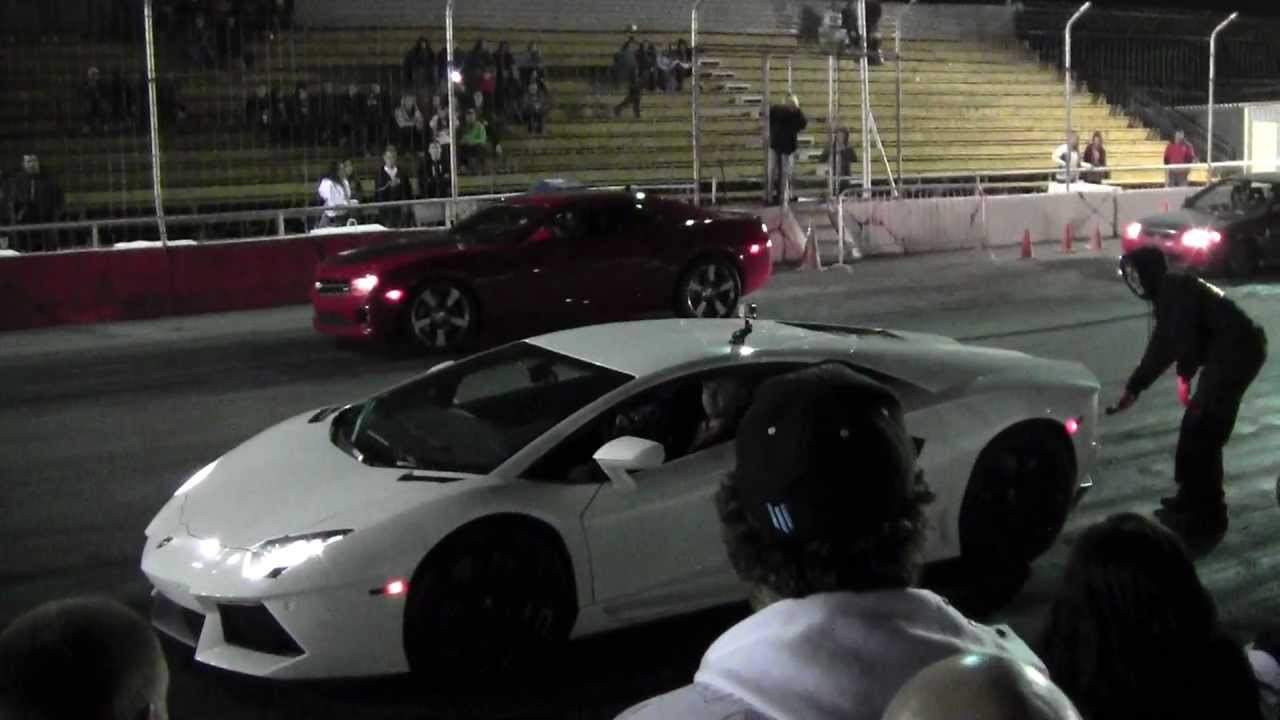 Lamborghini Aventador Lp700 4 Vs Zl1 Camaro Youtube