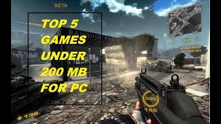 Top 5 Games For Pc Under 200 Mb