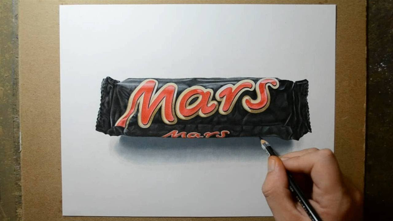 Uncategorized How To Draw Candy Bars how i draw a mars bar realistic drawing youtube
