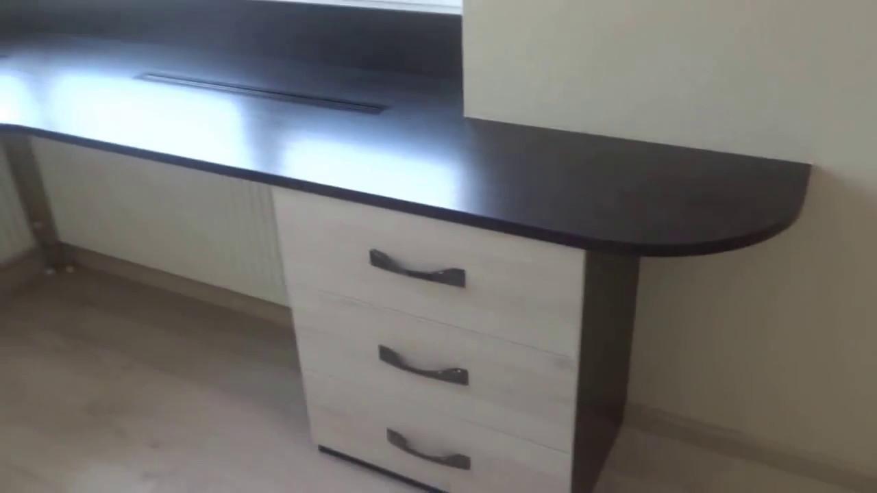 Встроенный стол-подоконник - youtube.