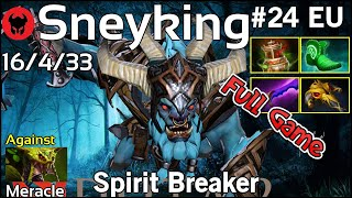 Support Sneyking plays Spirit Breaker!!! Dota 2 Full Game 7.20