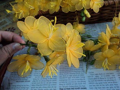 Искусственные цветы своими руками мастер класс видео