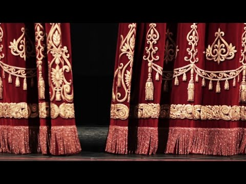Movie Theater Curtain Opening Video / Professional stock video footage