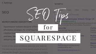 SEO FOR SQUARESPACE (Optimise Your Squarespace Website) | byRosanna Design