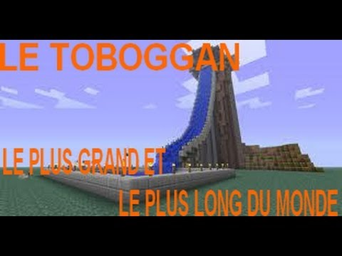 minecraft le toboggan le plus long et le plus grand du. Black Bedroom Furniture Sets. Home Design Ideas