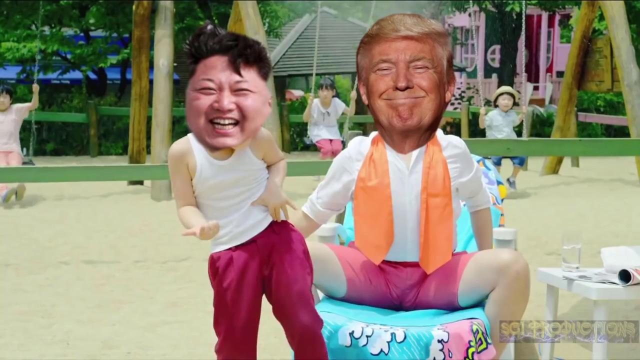 Trump and Kim gangnam style