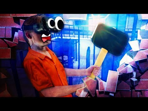 ESCAPING PRISON IN VR!! WE'RE BREAKING OUT!!! - Prison Boss VR (VR HTC VIVE Gameplay)