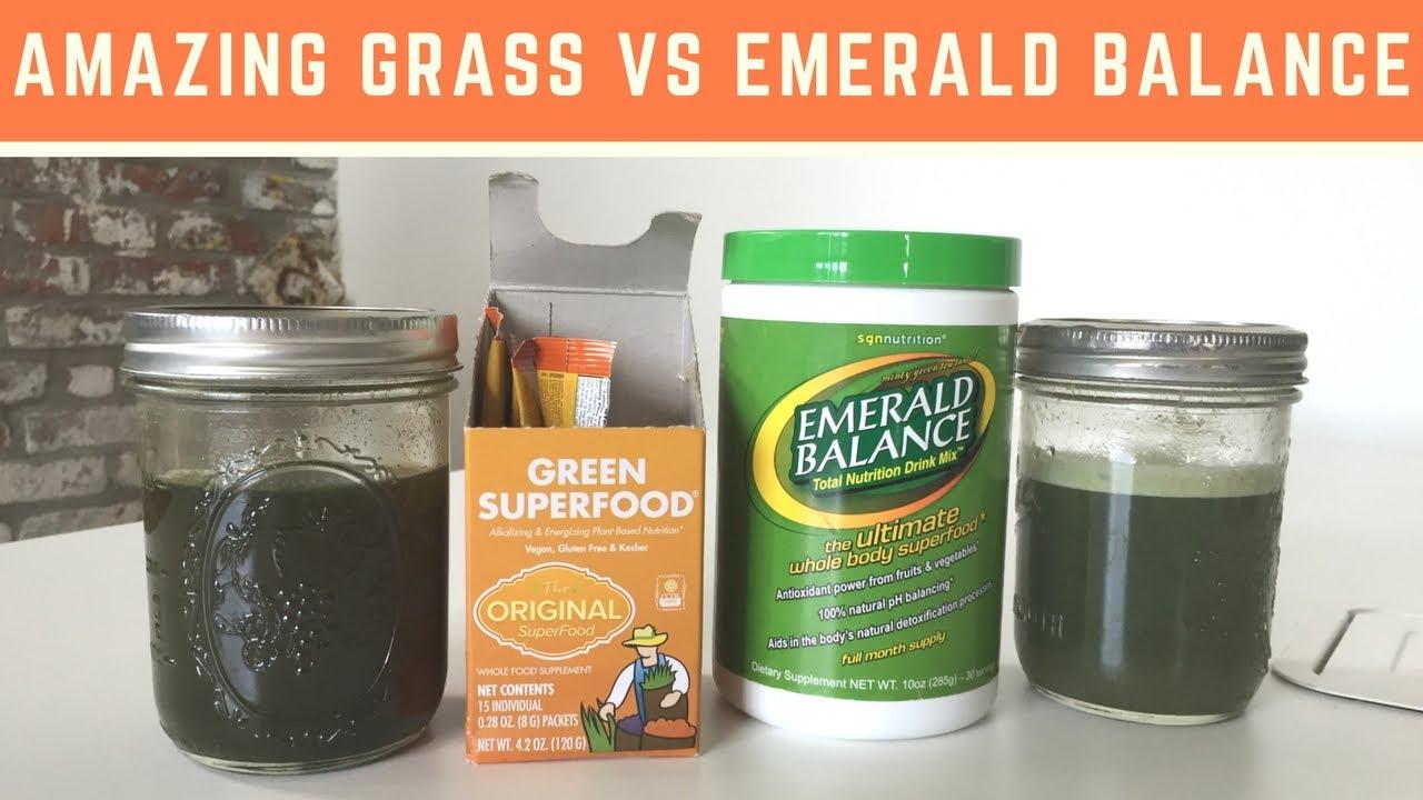 Amazing Grass vs Emerald Balance