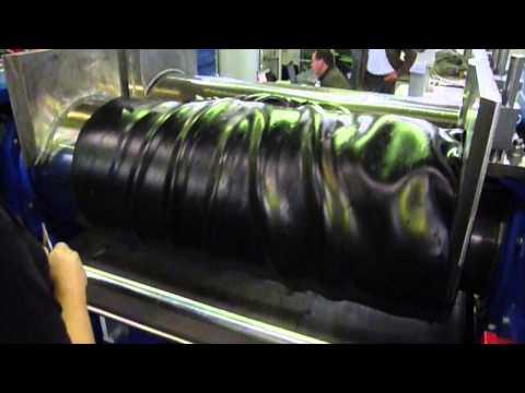 Gummi Mischwalzwerk mit DEGUMA efficiency / Rubber Mixing Mill with DEGUMA efficiency