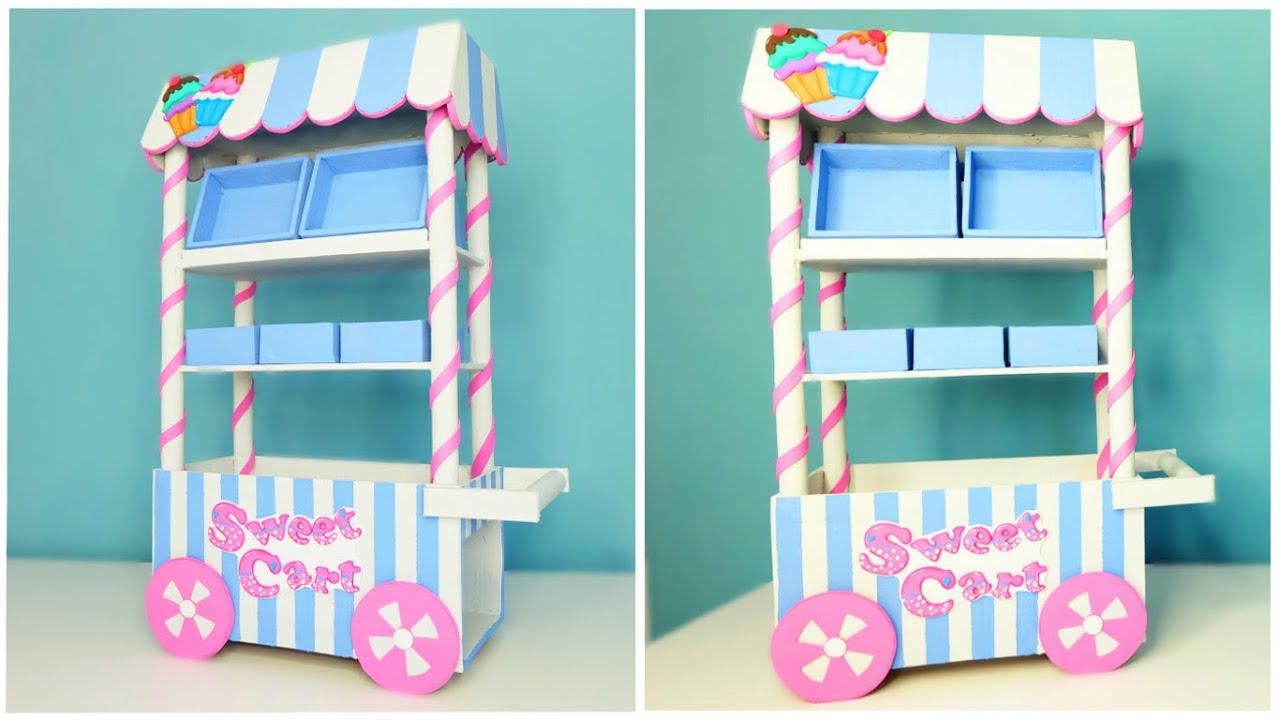 Diy Sweet Cart To Room Decor Or Celebrate Birthday Ideas