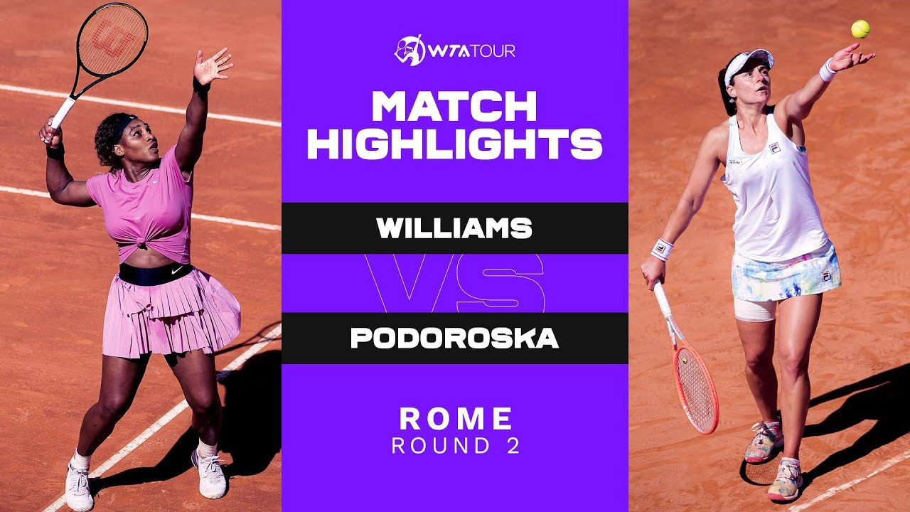 Download Serena Williams vs. Nadia Podoroska | 2021 Rome Round 2 | WTA Match Highlights