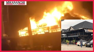 VIDEO: Fire guts down 'The Cask and Grill' in Mwanza