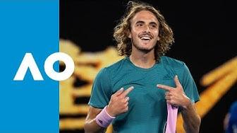 Stefanos Tsitsipas vs Roger Federer | Australian Open 2019 R4 Highlights