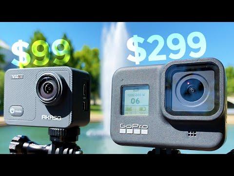$99 Akaso V50X vs $299 GoPro8!