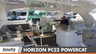 2015 Horizon PC52 Power Catamaran: First Look Video